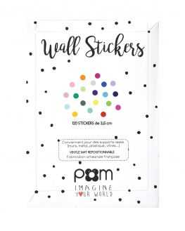 Stickers pois multicolore