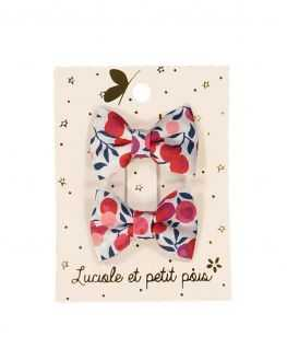 Duo mini barrettes bébé noeud Liberty Wiltshire