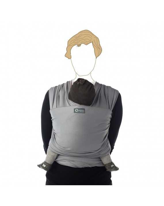 Echarpe de portage longue - Gris clair