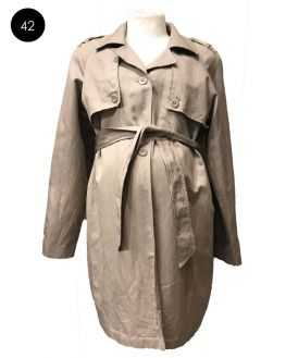 Trench coat grossesse beige