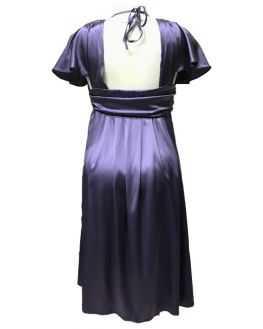 Robe grossesse Luxe en soie mauve