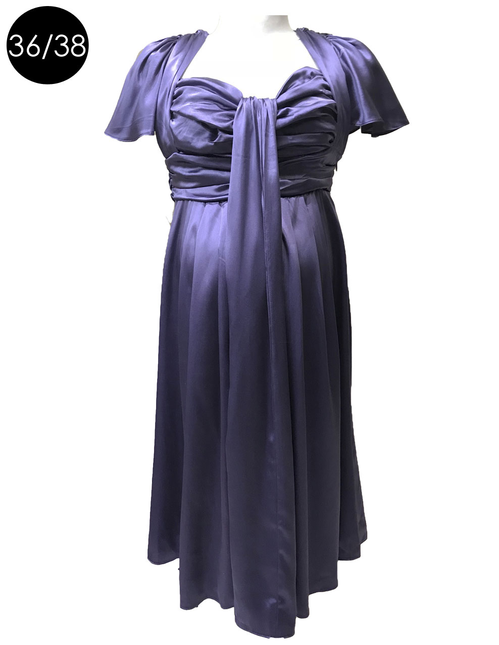 Robe Grossesse Cocktail Luxe En Soie Mauve Occasion Seraphine
