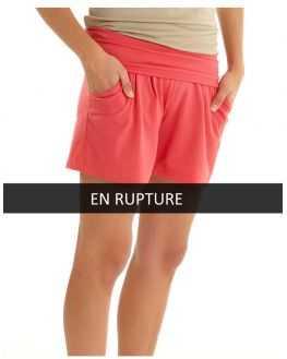 Short jersey de grossesse Coquelicot