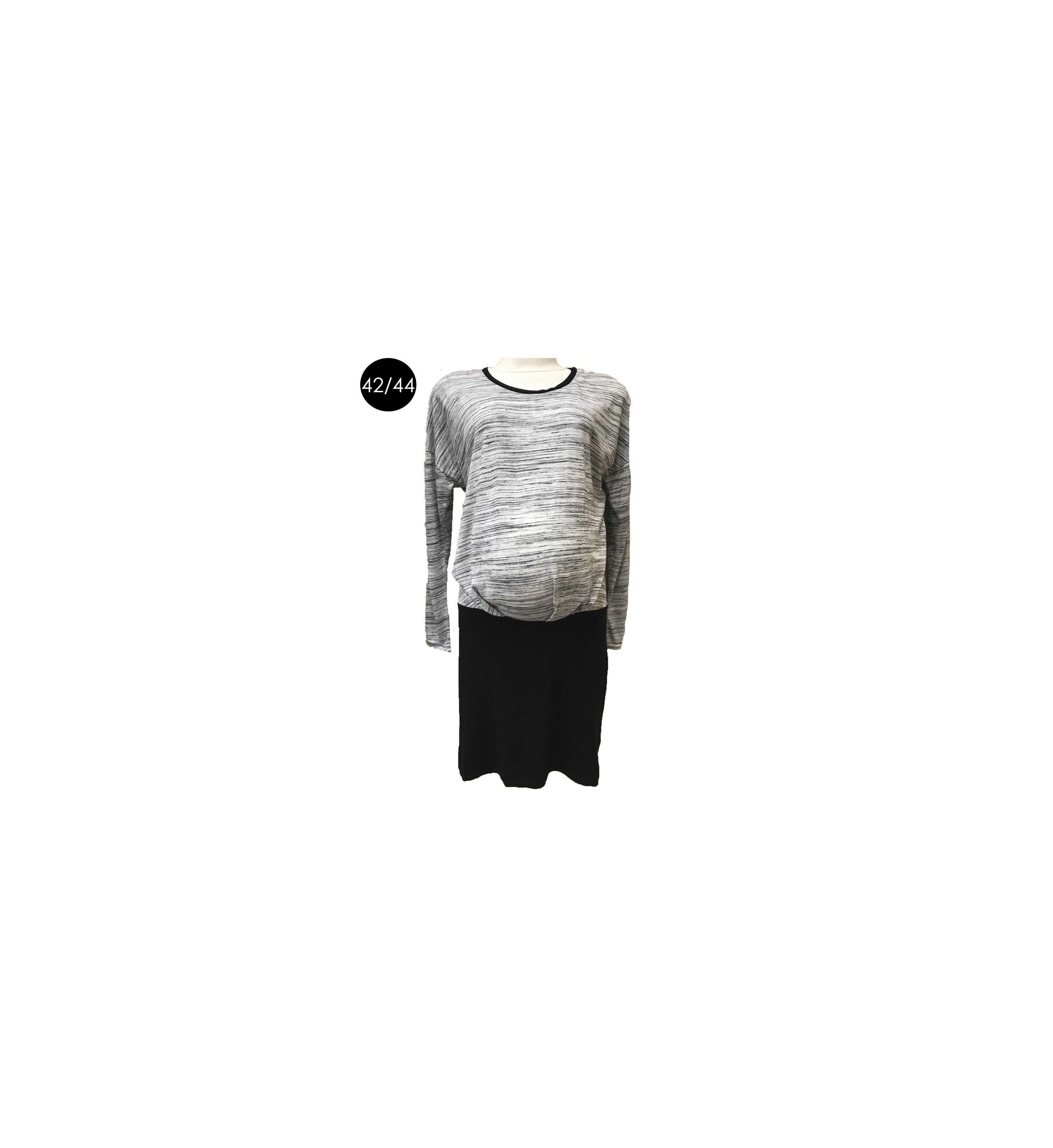 Robe bicolore femme enceinte