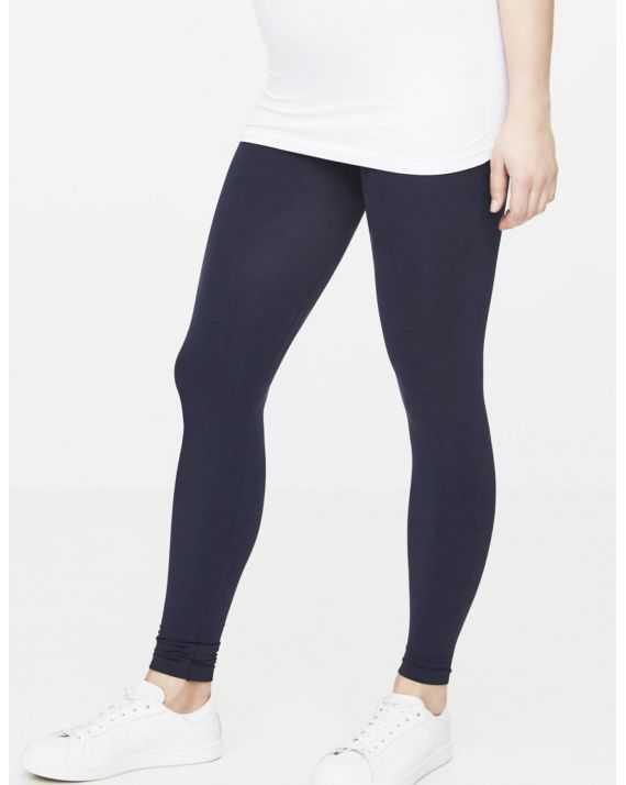 Legging femme enceinte bleu marine long