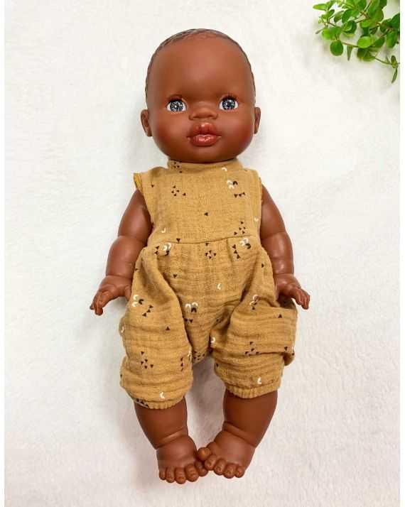 Poupon fille afrique yeux bleus Gordis